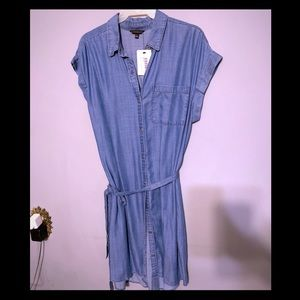 Soft Jean shirt dress sz S